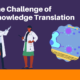 Knowledge Translation header showing two stylized doctors and a framed screenshot of the game.